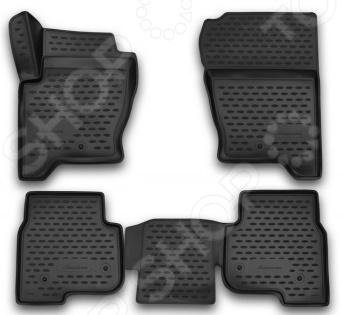 Комплект 3D ковриков в салон автомобиля Novline-Autofamily Land Rover Discovery 2014 коврики в салон land rover range rover 2005
