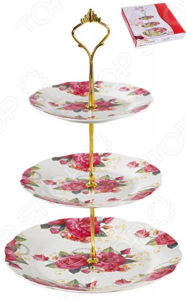 цена на Фруктовница трехъярусная OlAff «Флора» 124-01108
