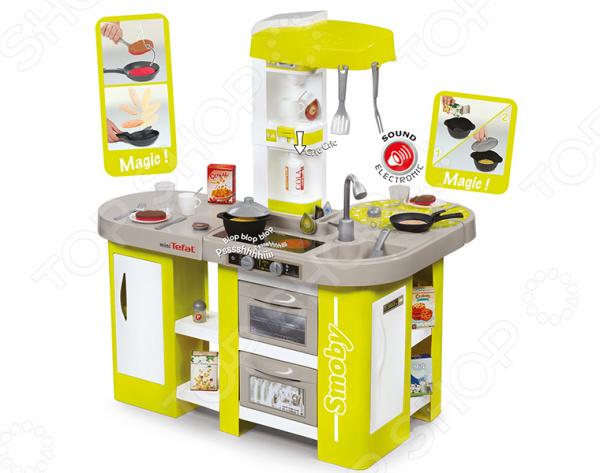 Кухня детская с аксессуарами Smoby Tefal Studio XL smoby электронная кухня smoby tefal studio звук серо розовая