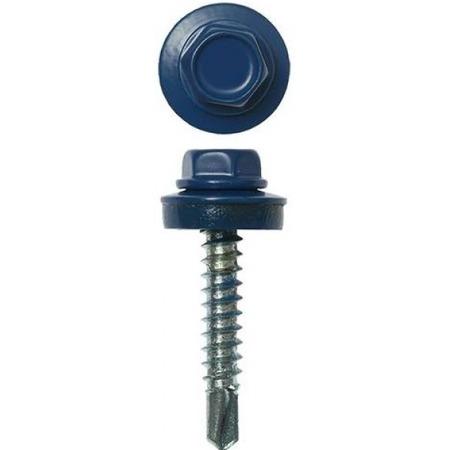 Купить Набор саморезов кровельных Stayer СКД для деревянной обрешетки. Цвет: синий