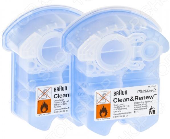 Картридж для электробритв с чистящей жидкостью Braun CCR 2 1