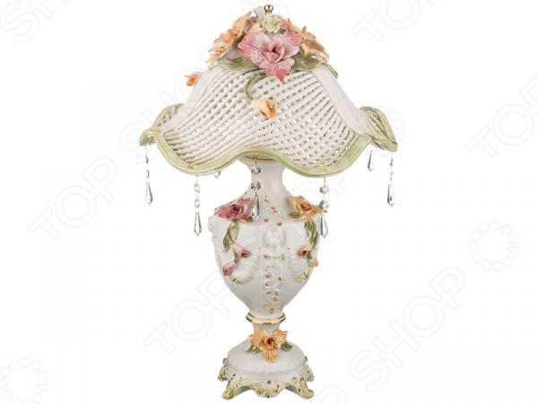 Светильник настольный с абажуром Lanzarin 697-041
