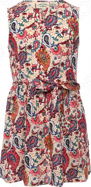Платье для девочки Finn Flare KS16-71017. Цвет: розовый
