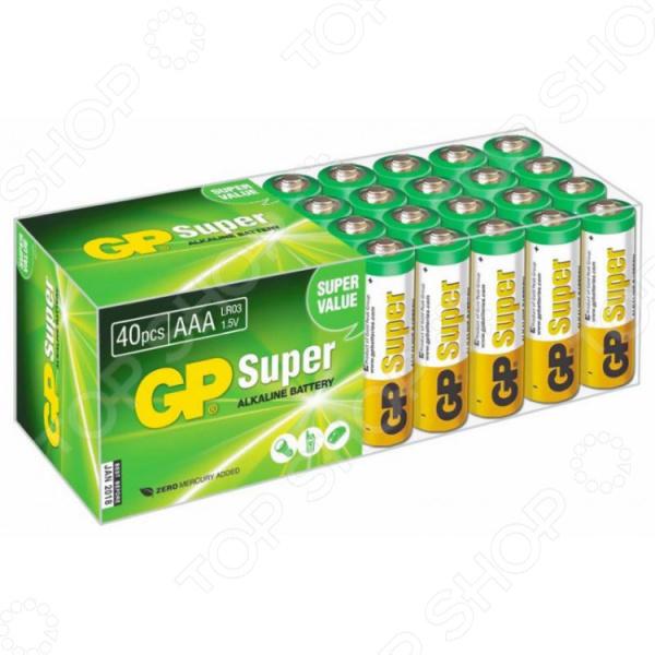 Набор батареек щелочных GP Super Alkaline 24A LR03 AAA