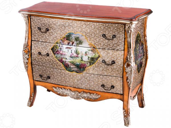 Комод 395-120 гладильный комод he wang с 3 корзинами и 2 ящиками цвет коричневый горчичный