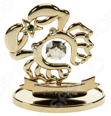 Фигурка декоративная Crystocraft «Знак зодиака. Рак» с кристаллами Swarovski