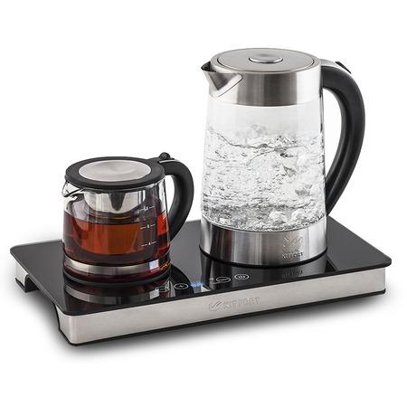 Купить Комплект: чайник электрический и заварочный KITFORT КТ-635