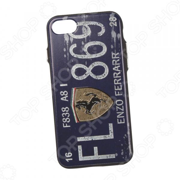 Чехол для iPhone 7/8 с фактурным покрытием «Номер Энзо Феррари». Цвет: синий телефон 70550 чей номер