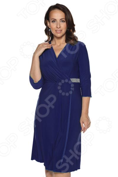 Платье Лауме-Лайн «Нежный цвет». Цвет: темно-синий платье vonflaibach цвет синий