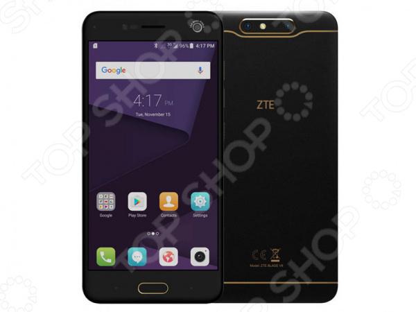Смартфон ZTE Blade V8 64Gb обеспечит стабильную связь и удобный доступ в интернет. Никакого торможения и зависания при просмотре видео, быстрый отклик в онлайн-играх, комфортное общение, прослушивание музыки, чтение и реализация других необходимых задач. Эта модель обладает множеством преимуществ: прочность материалов, эргономичный дизайн, высокое качество изготовления, оптимальный баланс производительности и времени работы от аккумулятора. Это устройство станет отличным решением для современных людей.  Оцените преимущества модели  Делайте качественные снимки даже при плохом освещении! Основная камера оснащена светодиодной вспышкой и автоматически настраиваемым фокусом. Вам также доступен режим 3D-съемки создавайте красочные объемные снимки живописных мест.  Закругленные края придают модели элегантность, она комфортно ощущается в руке.  Внутренняя память 64 Гб; если объем собранной информации превышает объем встроенной памяти, воспользуйтесь дополнительной картой microSD SDHC SDXC до 128 Гб.  Поддержка работы 2 SIM-карт, чтобы вы могли комфортно общаться с пользователями разных мобильных операторов.  Частота процессора 1,4 ГГц.  Наличие встроенных датчиков: освещенности, приближения, гироскоп, Холла, акселерометр.  Воспроизводимые аудио-форматы: MP3 WAV FLAC eAAC.  Частоты LTE B1 B3 B5 B7 B8 B20.