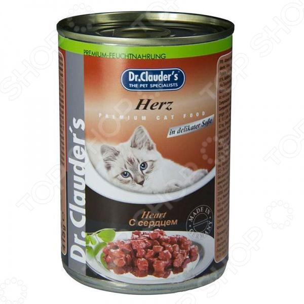 Корм консервированный для кошек Dr. Clauder's Herz in Delikater Sosse корм консервированный для кошек dr clauder s herz in delikater sosse