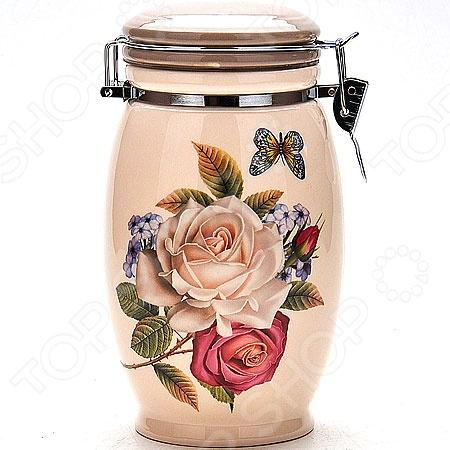 Банка для сыпучих продуктов Loraine «Розы»