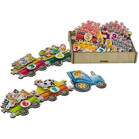 Купить Игровой набор на липучках PAREMO «Поезд с овощами»