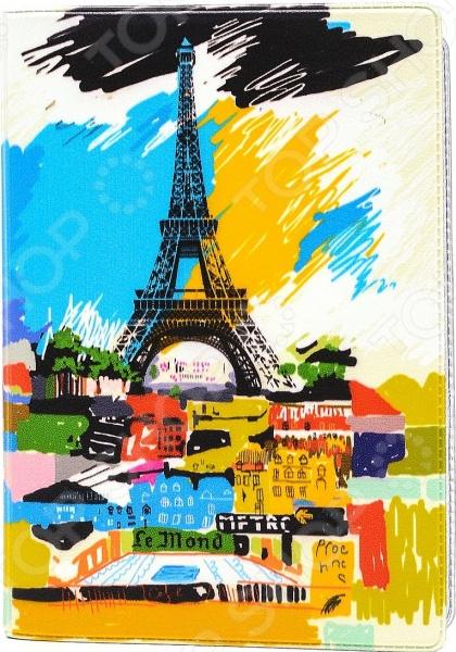 Обложка для автодокументов кожаная Mitya Veselkov «Париж в красках»
