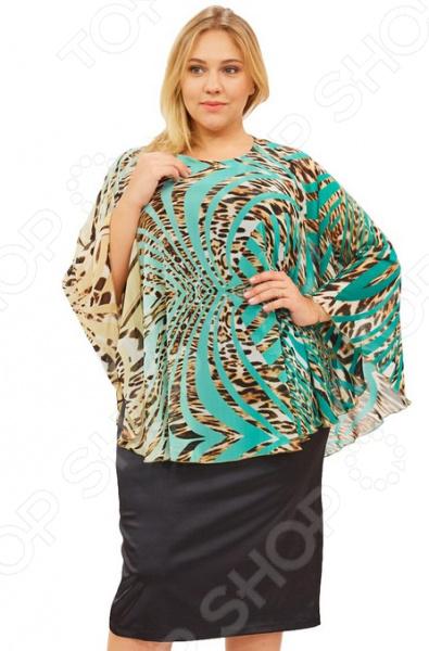 Платье СВМ-ПРИНТ «Дивная птица». Цвет: зеленый
