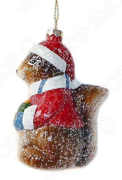 Елочное украшение Новогодняя сказка «Белочка» елочное украшение белочка мини в подарочной упаковке 9см