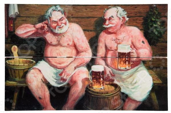 Картина для бани Банные штучки «В бане» картина д бани в бане генералов нет 30х40см сосна