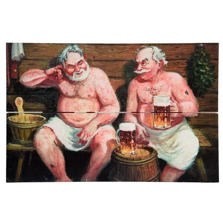 Купить Картина для бани Банные штучки «В бане»
