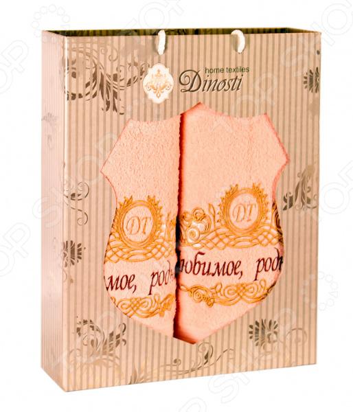 Комплект из 2-х махровых полотенец Dinosti «Любимое». В ассортименте сирень classik б 50х90 70х130 в коробке набор полотенец фиеста