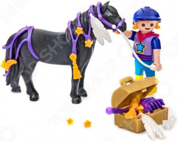 Игровой набор Playmobil «Ферма Пони: Конюх с Пони Звездочка» игровой набор playmobil ферма пони пикник с коневозкой
