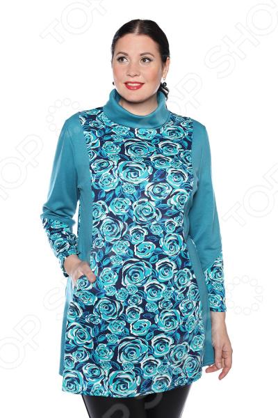 цена Блуза Pretty Woman «Бьянка». Цвет: бирюзовый онлайн в 2017 году
