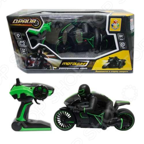 Машина на радиоуправлении 1 Toy «Драйв. Мотоцикл с гонщиком»