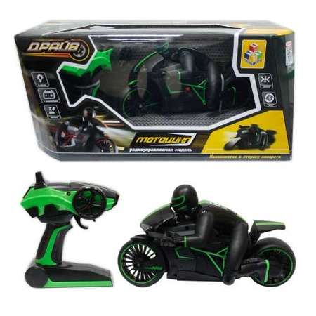 Купить Машина на радиоуправлении 1 Toy «Драйв. Мотоцикл с гонщиком»