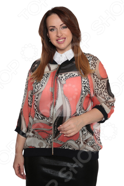 Бомбер Гранд Гром «Яркая весна». Цвет: персиковый бомбер printio мода 2017