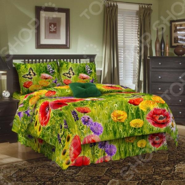 Комплект постельного белья Эго «Маки». 1,5-спальный Эго - артикул: 1003715