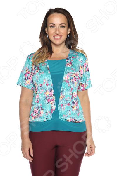 Блуза LORICCI «Любимый стиль». Цвет: бирюзовый снуды loricci снуд