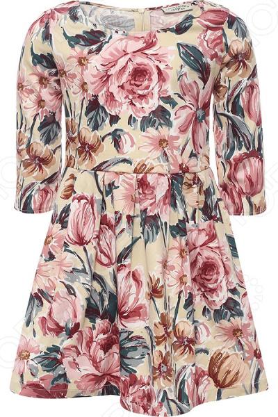 Платье для девочки Finn Flare Fids KB17-71026B. Цвет: молочный