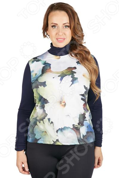 Блуза VAY «В краю Магнолий». Цвет: темно-синий