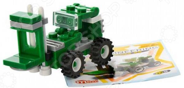 Конструктор игровой Brick 1217 «Погрузчик» Mini 1717119 погрузчик с вращением с магнитом блист brio