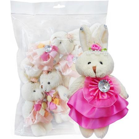 Купить Набор мягких игрушек Color Kit «Заяц». Цвет: розовый