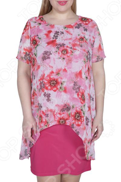 Платье ТРЕНД «Стихия женщины». Цвет: малиновый платье тренд стильный силуэт цвет бордовый