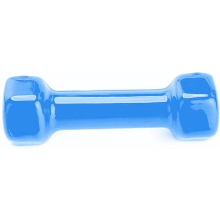 Купить Гантель обрезиненная Bradex Rubber covered barbell. Цвет: синий