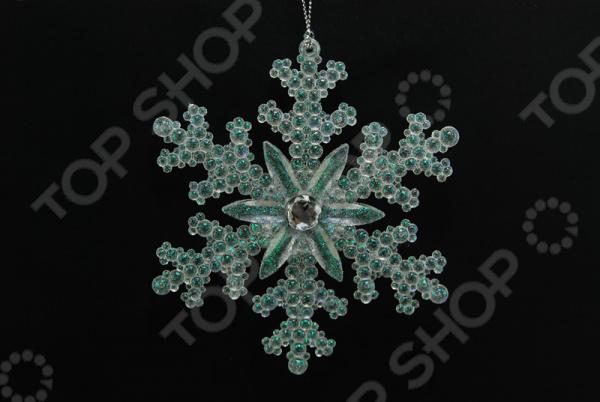 Новогоднее украшение Crystal Deco «Снежинка со стразами» новогоднее украшение crystal deco подвеска со стразами в ассортименте