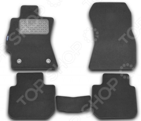Комплект ковриков в салон автомобиля Novline-Autofamily Subaru Legacy 2010 седан. Цвет: черный реснички на фары subaru legacy b4