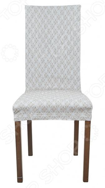 Фото - Комплект натяжных чехлов на стул Еврочехол «Фло» натяжной чехол на стул еврочехол еврочехол микрофибра ваниль