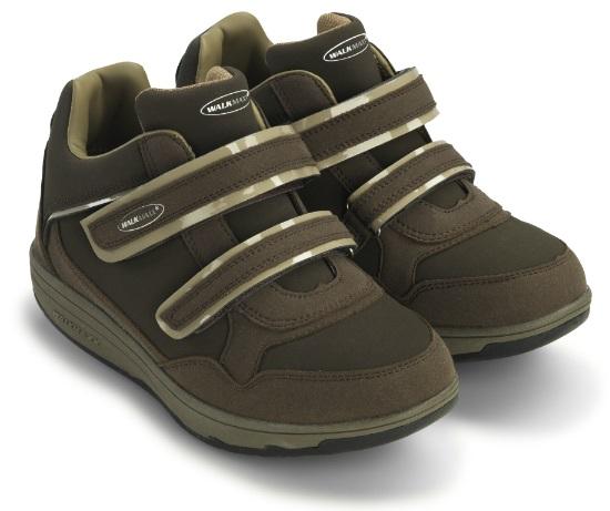 Кроссовки адаптивные женские Walkmaxx Wedge. Цвет: коричневый 1