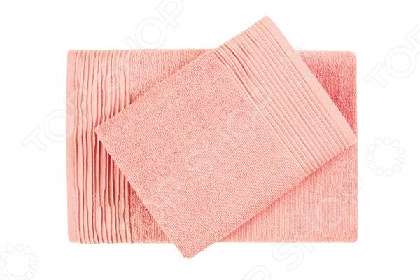 Фото - Полотенце махровое Aquarelle «Палитра». Цвет: персиковый полотенце minimoto ya04462
