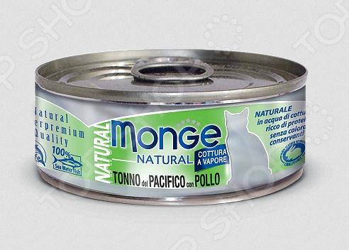 Корм консервированный для кошек Monge Natural Tonno del Pacifico con Pollo корм флатазор купить в ульяновске