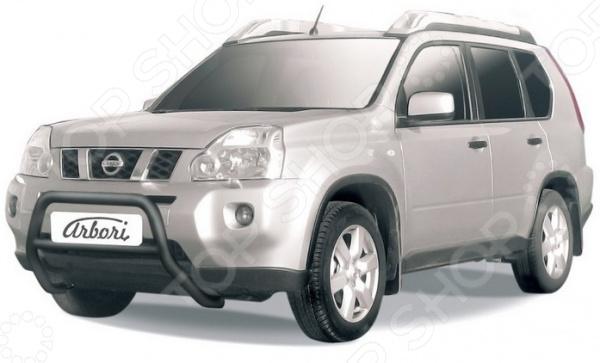 Кенгурятник Arbori низкий для Nissan X-Trail, 2007-2010