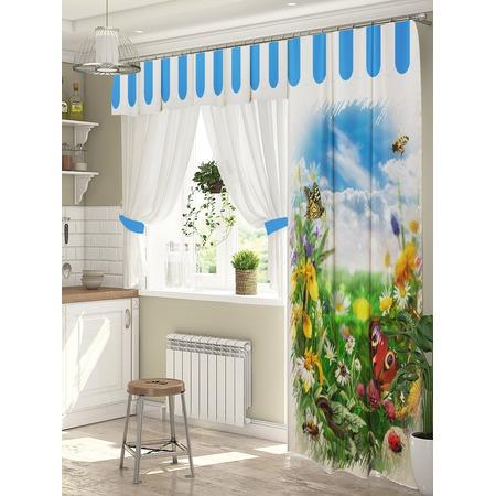 Купить Комплект штор для окна с балконом ТамиТекс «Летнее настроение»