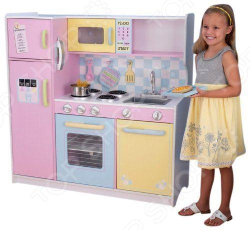 Кухня детская с аксессуарами KidKraft «Пастель»
