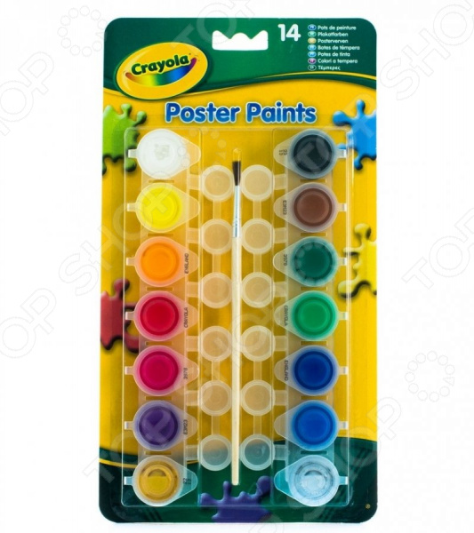 Набор красок Crayola «Poster paints» crayola llc crayola oil pastels 28 color set set of 12