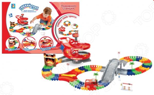 Zakazat.ru: Трек гоночный 1 Toy «Пожарная станция»