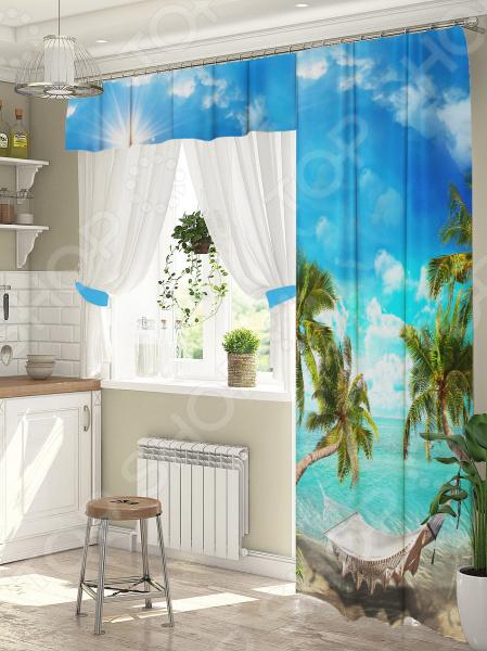Комплект штор для окна с балконом ТамиТекс «Гамак»