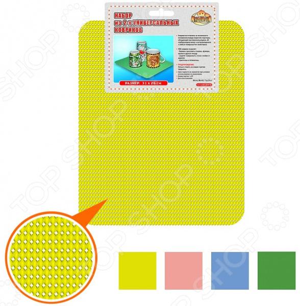 Набор ковриков для сушки посуды Мультидом FJ87-44.  ассортименте
