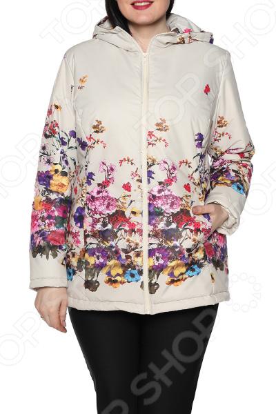 Куртка Гранд Гром «Пестрое настроение». Цвет: бежевый туника гранд гром ассорти идей цвет коричневый